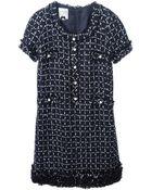 Edward Achour Paris Front Pocket Detail Bouclé Dress - Lyst