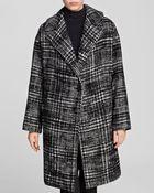 DKNY Oversize Houndstooth Coat - Lyst