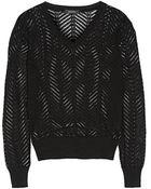 Isabel Marant Filip Open-Knit Linen-Blend Sweater - Lyst