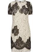Karen Millen Fine Lace Applique Patchwork Dress - Lyst