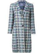 Etro Bouclé Knit Coat - Lyst