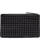 McQ by Alexander McQueen Studded Leather Pochette - Lyst