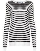 T By Alexander Wang Striped Long Sleeve T-Shirt - Lyst
