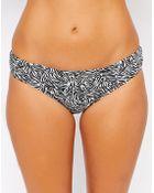 Asos Fuller Bust Exclusive Marilyn Zebra Geo-Tribal Print Bikini Bottom - Lyst