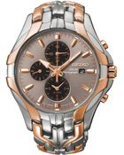 Seiko Men'S Chronograph Solar Two-Tone Stainless Steel Bracelet Watch 43Mm Ssc250 - Lyst