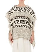 Etoile Isabel Marant Texas Knitted Poncho - Lyst