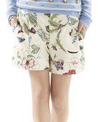 Gucci Flora Knight-Print Cotton Canvas Shorts - Lyst