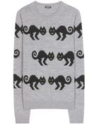 Jil Sander Navy Knitted Sweater - Lyst