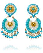 Miguel Ases Turquoise Chandelier Earrings - Lyst