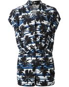 L'Agence Printed Playsuit - Lyst