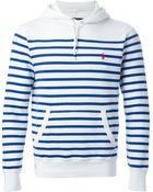 Polo Ralph Lauren Striped Hoodie - Lyst