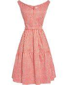 Carven Printed Vneck Aline Dress - Lyst