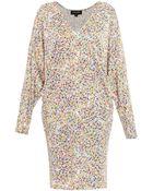 Saloni Lara Petal-Print Dress - Lyst
