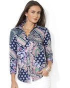 Lauren by Ralph Lauren Plus Paisley Cotton Blouse - Lyst