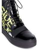 McQ by Alexander McQueen 'Chris' Word Print Canvas Sneakers - Lyst