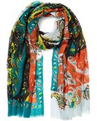 Etro Paisley Print Cashmere Scarf - Lyst