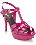 Saint Laurent Tribute Patent Sandal - Lyst