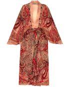 Etro Paisley-Print Silk-Crépon Maxi Dress - Lyst