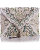 Marchesa Elisa Embroidered Irish Lace Clutch Bag - Lyst
