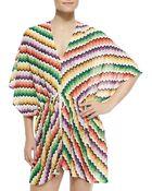 Missoni Mare Honeycomb Zigzag-Knit Kaftan - Lyst