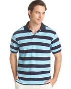 Izod Rugby Striped Pique Polo - Lyst