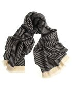 Black.co.uk Black And Biscuit Puppytooth Cashmere Scarf - Lyst