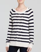 Splendid Striped Knit Pullover Sweater - Lyst
