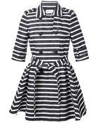 RED Valentino Striped Trench Coat - Lyst