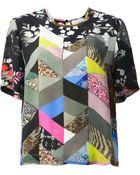 Preen By Thornton Bregazzi Mixed Print Tshirt - Lyst