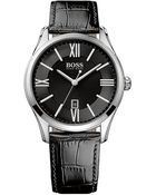 Hugo Boss 1513022 Ambassador Watch With Leather Strap - For Men - Lyst