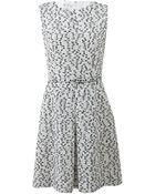 Oscar de la Renta Inverted Pleat Dress - Lyst