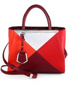 Fendi 2Jours Petite Colorblock Shopper - Lyst