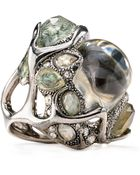 Alexis Bittar Crackle Center Lucite Cocktail Ring - Lyst