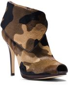Michael Kors Kendra Camouflage Hair Calf Ankle Boot - Lyst