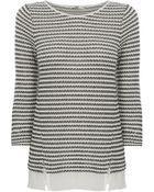 Oasis Drop Stitch Stripe Sweater - Lyst