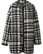 Stella McCartney Checked Oversized Coat - Lyst