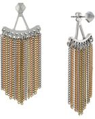 BCBGeneration Chain Link Fringed Earrings - Lyst