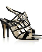 Brian Atwood Gwen Patent-Leather Sandals - Lyst