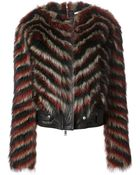 Givenchy Striped Fur Jacket - Lyst