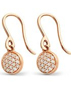Astley Clarke 14Ct Rose-Gold And Diamond Mini Icon Drop Earrings - For Women - Lyst