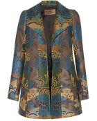 Etro Scroll Jacquard Stripe Waistcoat - Lyst