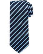 Hugo Boss Narrow Stripe Silk Tie - Lyst