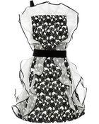 Oscar de la Renta Silk Ruffle Detail Dress - Lyst