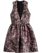 McQ by Alexander McQueen Printed Twill Dress - Lyst