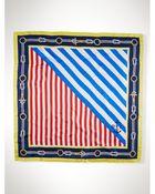 Ralph Lauren Silk Striped Scarf - Lyst