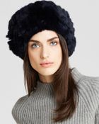 Surell Rabbit Fur Knit Slouchy Hat - Bloomingdale'S Exclusive - Lyst