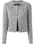 N°21 Cropped Tweed Jacket - Lyst