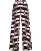 Suno Block Stripes Wide Leg Drawstring Pants - Lyst