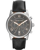 Michael Kors Hawthorne Leather-Strap Watch - Lyst