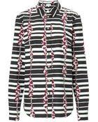 Suno Monochrome Block Stripes Shirt - Lyst